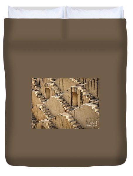 Chand Baori Duvet Cover