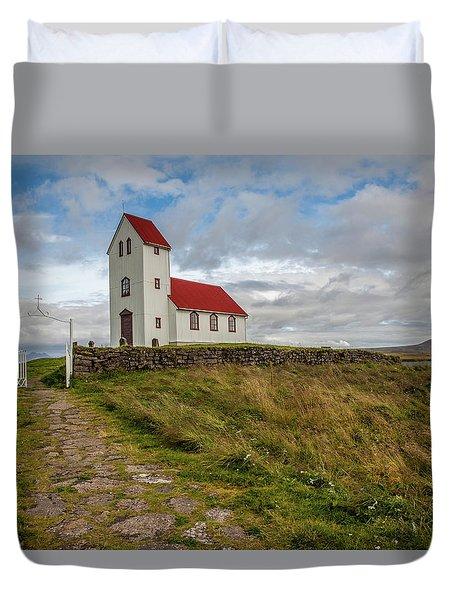 Chapel Of Iceland Duvet Cover