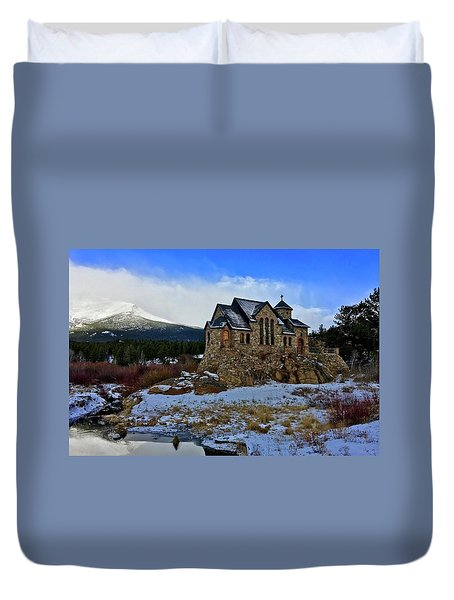 Duvet Cover featuring the photograph Chapel On The Rock by Dan Miller