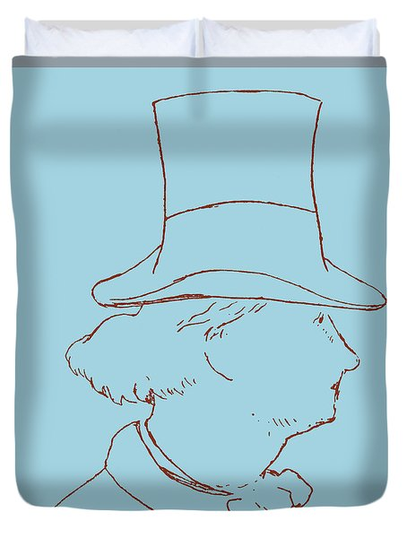 Charles Baudelaire By Edouard Manet Duvet Cover