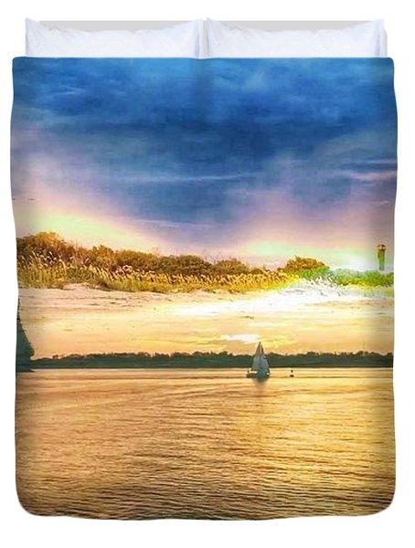 Charleston Harbor Sc Duvet Cover
