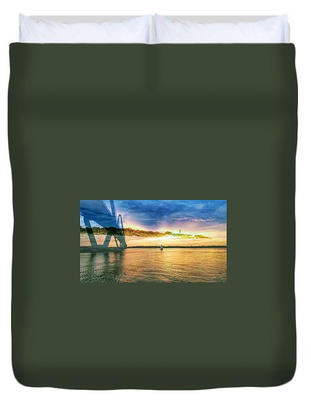 Charleston Harbor Sc Duvet Cover
