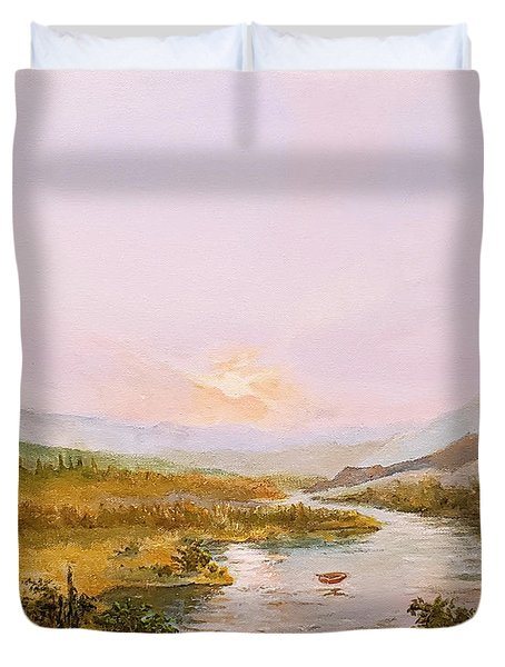 Duvet Cover featuring the painting Charon's Sabbatical by James Andrews