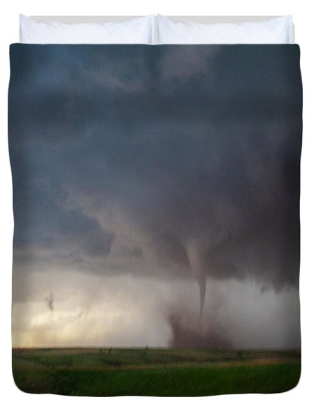 Chasing Naders In Nebraska 026 Duvet Cover