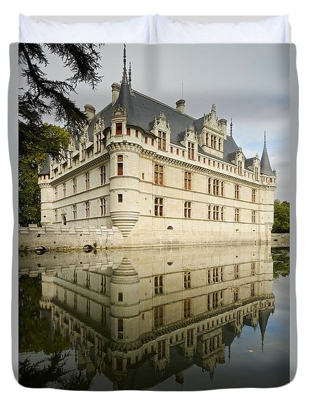 Duvet Cover featuring the photograph Chateau Azay-le-rideau, by Stephen Taylor