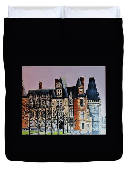 Chateau De Maintenon Duvet Cover