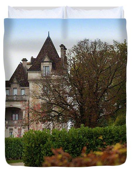 Chateau, Near Beynac, France Duvet Cover