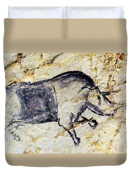 Chauvet Rhinoceros Duvet Cover