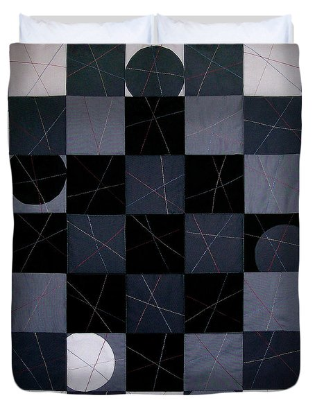 Checkers And Pick-up-sticks Duvet Cover