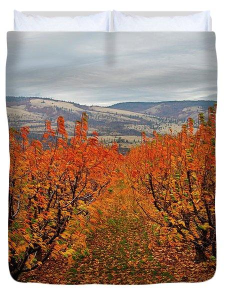 Cherry Orchard Autumn Duvet Cover