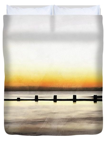 Duvet Cover featuring the painting Chesapeake by Harry Warrick