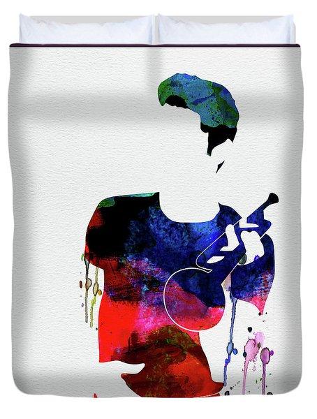 Chet Baker Watercolor Duvet Cover