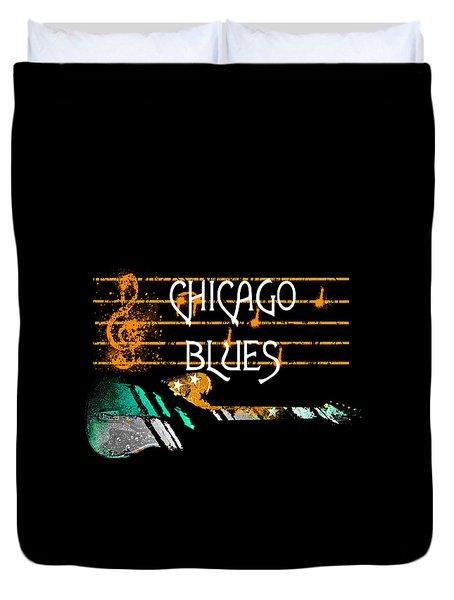 Chicago Blues Music Duvet Cover