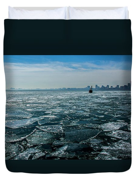 Chicago From Navy Pier 2 Duvet Cover