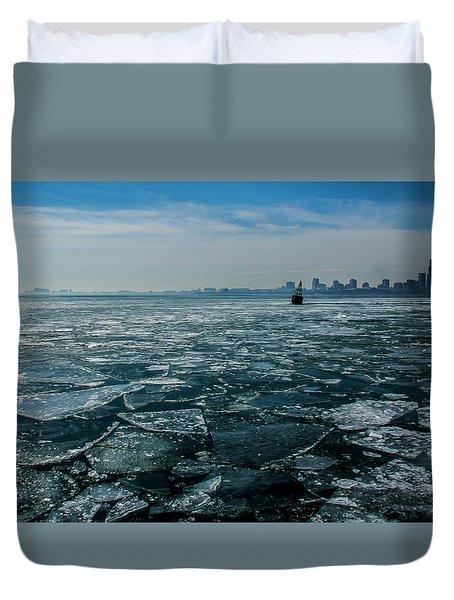 Chicago In Winter Duvet Cover