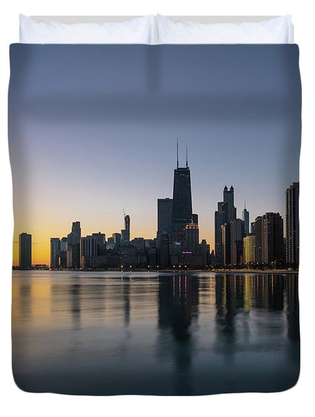Chicago Lakefront Dawn Duvet Cover