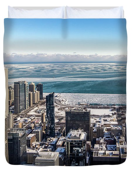 Chicago View Angled Duvet Cover