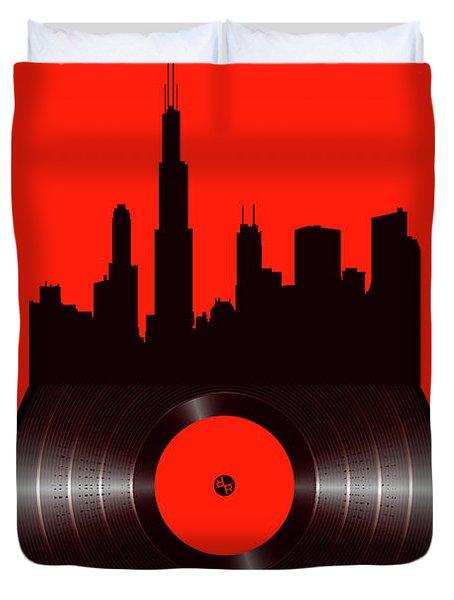 Chicago Vinyl Duvet Cover