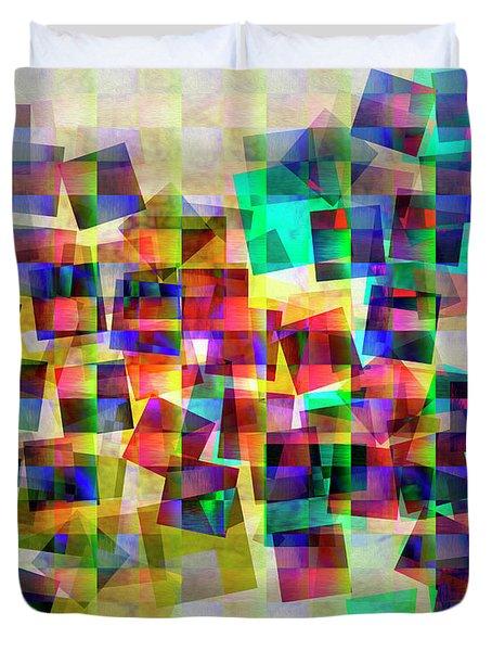 Duvet Cover featuring the digital art Chicken Run by Edmund Nagele