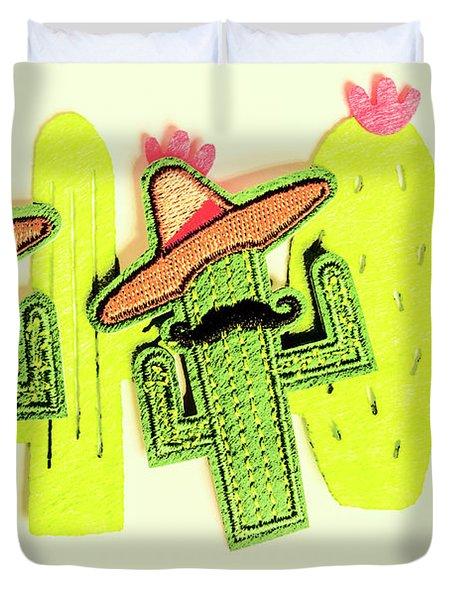Chili Con Cacti Duvet Cover