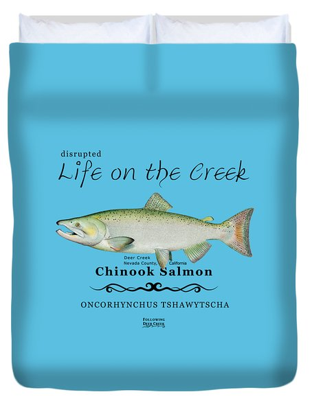 Chinook Salmon Disrupted Duvet Cover