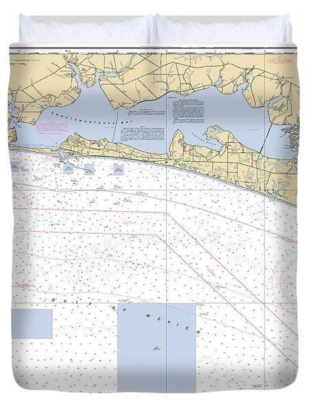 Choctawhatchee Bay Noaa Chart 11388 Duvet Cover