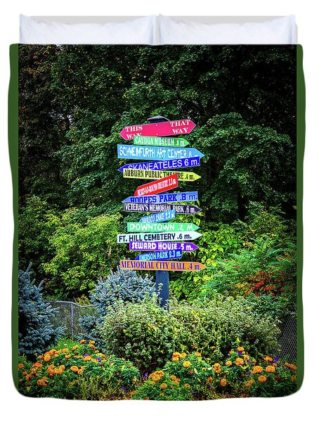 Duvet Cover featuring the photograph Choices - Finger Lakes, New York by Lynn Bauer
