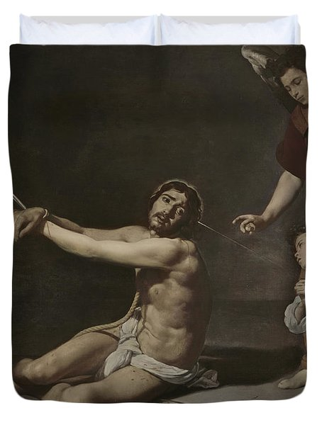 Christ After The Flagellation Contemplated By The Christian Soul Duvet Cover
