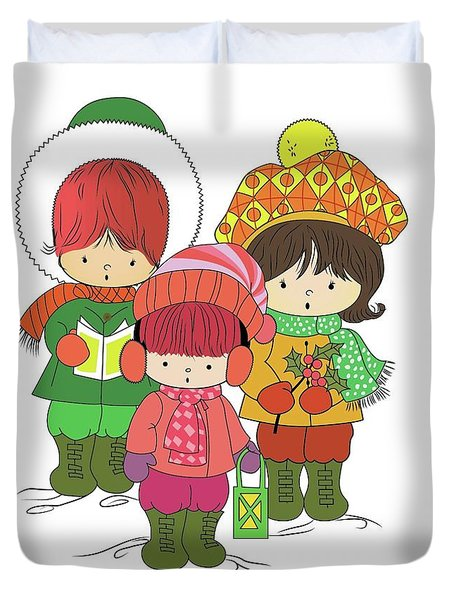 Christmas Angels Duvet Cover
