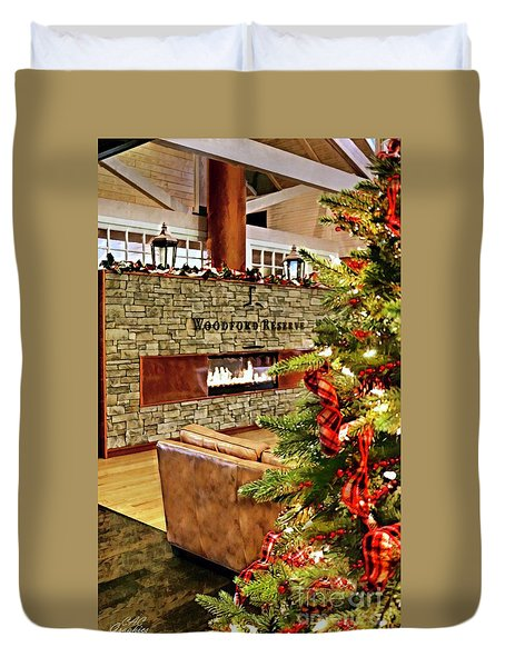 Christmas At Woodford Reserve Duvet Cover