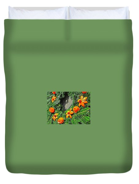 Duvet Cover featuring the photograph Christmas Citrus by Don Moore