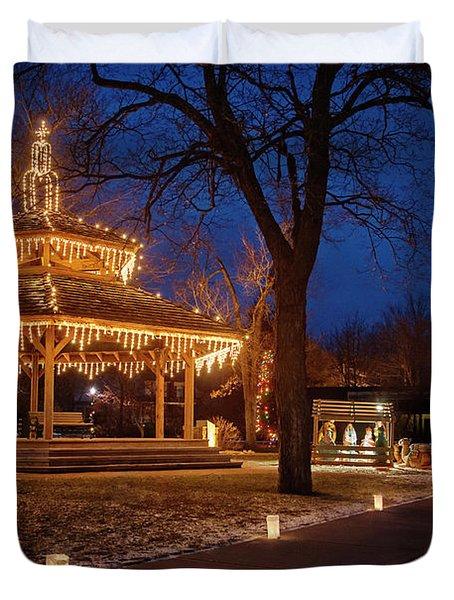 Christmas Eve In Dexter Duvet Cover