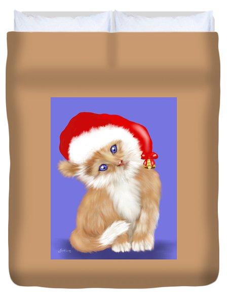 Christmas Kitten Duvet Cover
