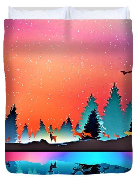 Christmas  Silent Night Duvet Cover