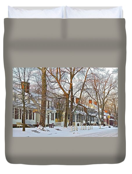 Duvet Cover featuring the photograph Christmas Snow by Don Moore