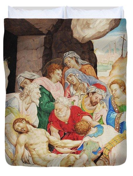 Christ's Burial Duvet Cover