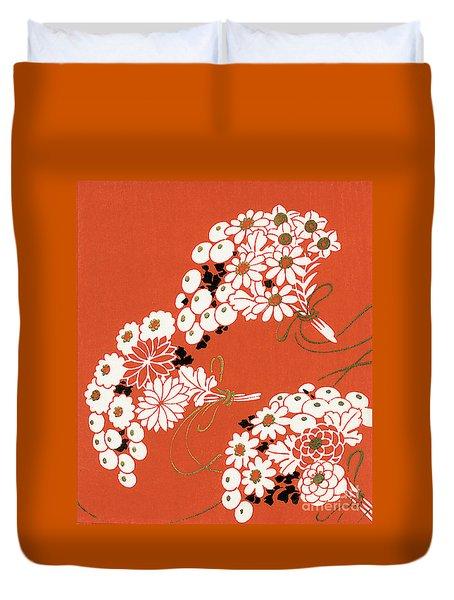 Chrysanthemum Ornamental Flowers Duvet Cover