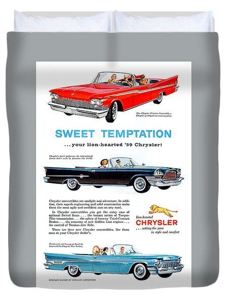 Chrysler Most Prestigious Cars 1959 Duvet Cover