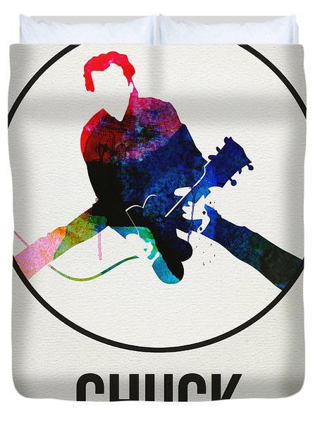 Chuck Berry Watercolor Duvet Cover