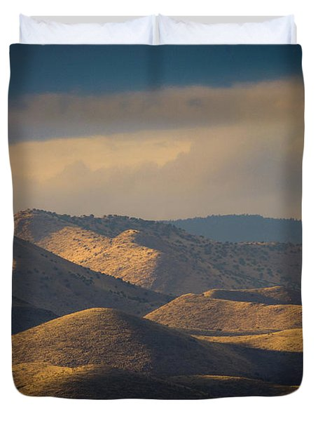Chupadera Mountains II Duvet Cover
