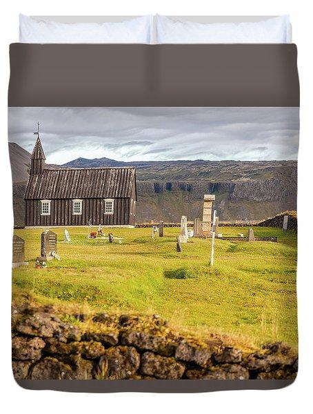Church Cemetery Of Iceland Duvet Cover