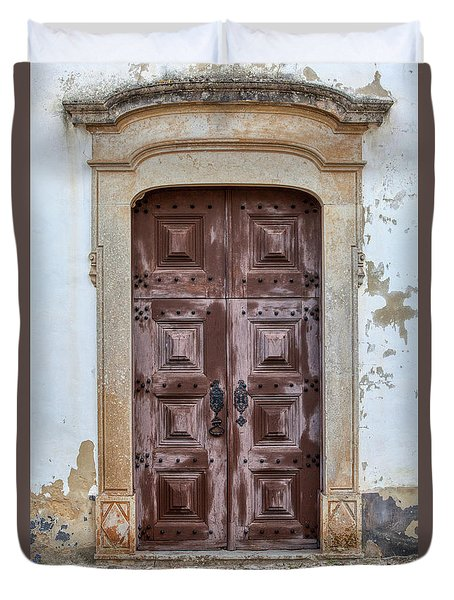 Church Door Of Obidos Duvet Cover