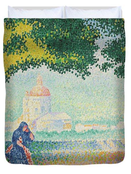 Church Of Santa Maria Near Assisi, 1909 Duvet Cover