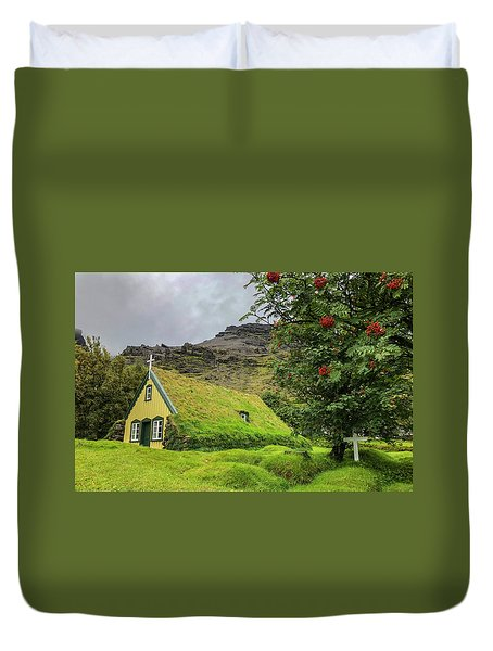 Church Of The Holy Moss Duvet Cover