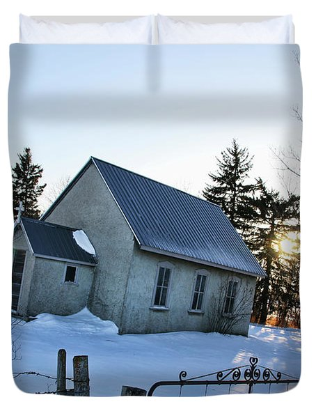 Church On Brewer Road Duvet Cover