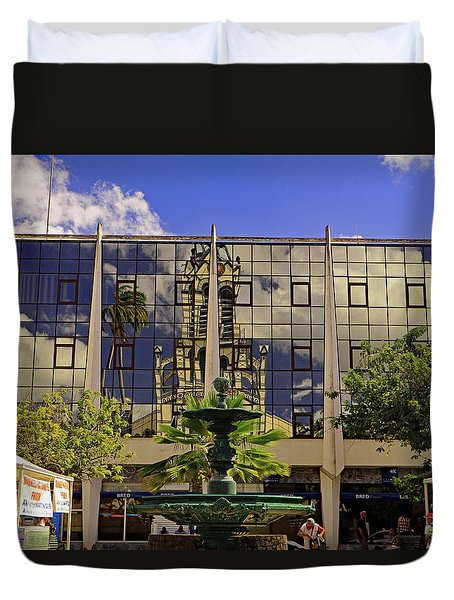 Duvet Cover featuring the photograph Church Reflections by Tony Murtagh