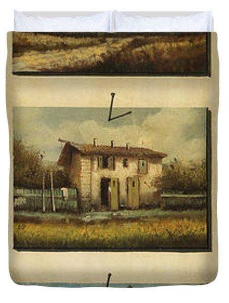 cinque gocce di Toscana Duvet Cover