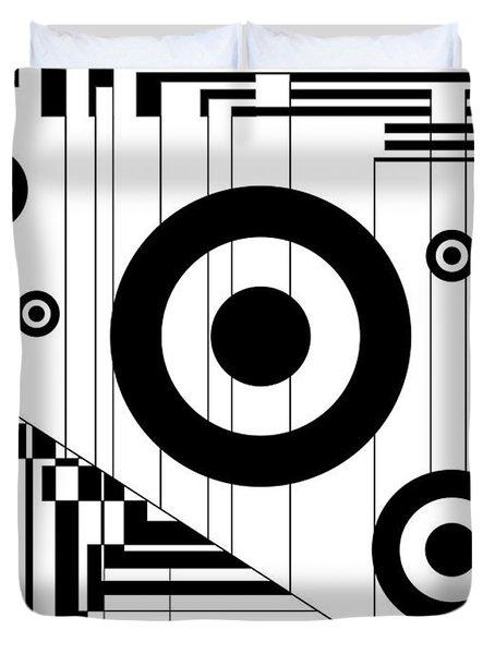 Circular Circles  Duvet Cover