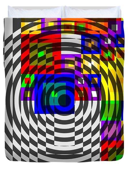 Circular Colour Fusion  Duvet Cover