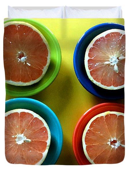 Citrus Colors Duvet Cover
